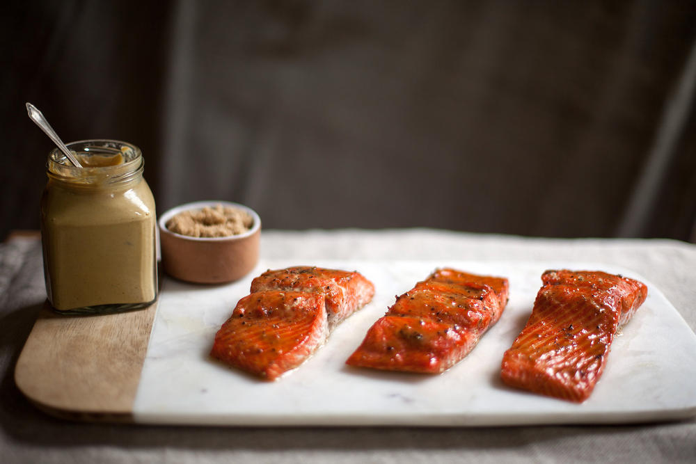 Roasted Salmon Glazed With Brown Sugar and Mustard Recipe ...