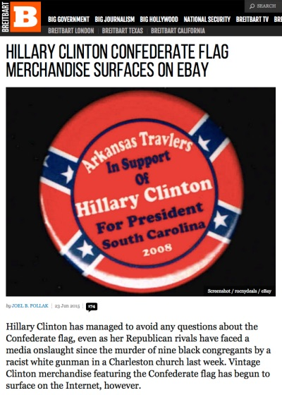 Arkansas Bill Of Sale >> Uh, About Those Clinton Confederate Flag Campaign Buttons? Two Can Play This Game - Little Green ...