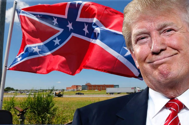Image result for Trump & confederate flag