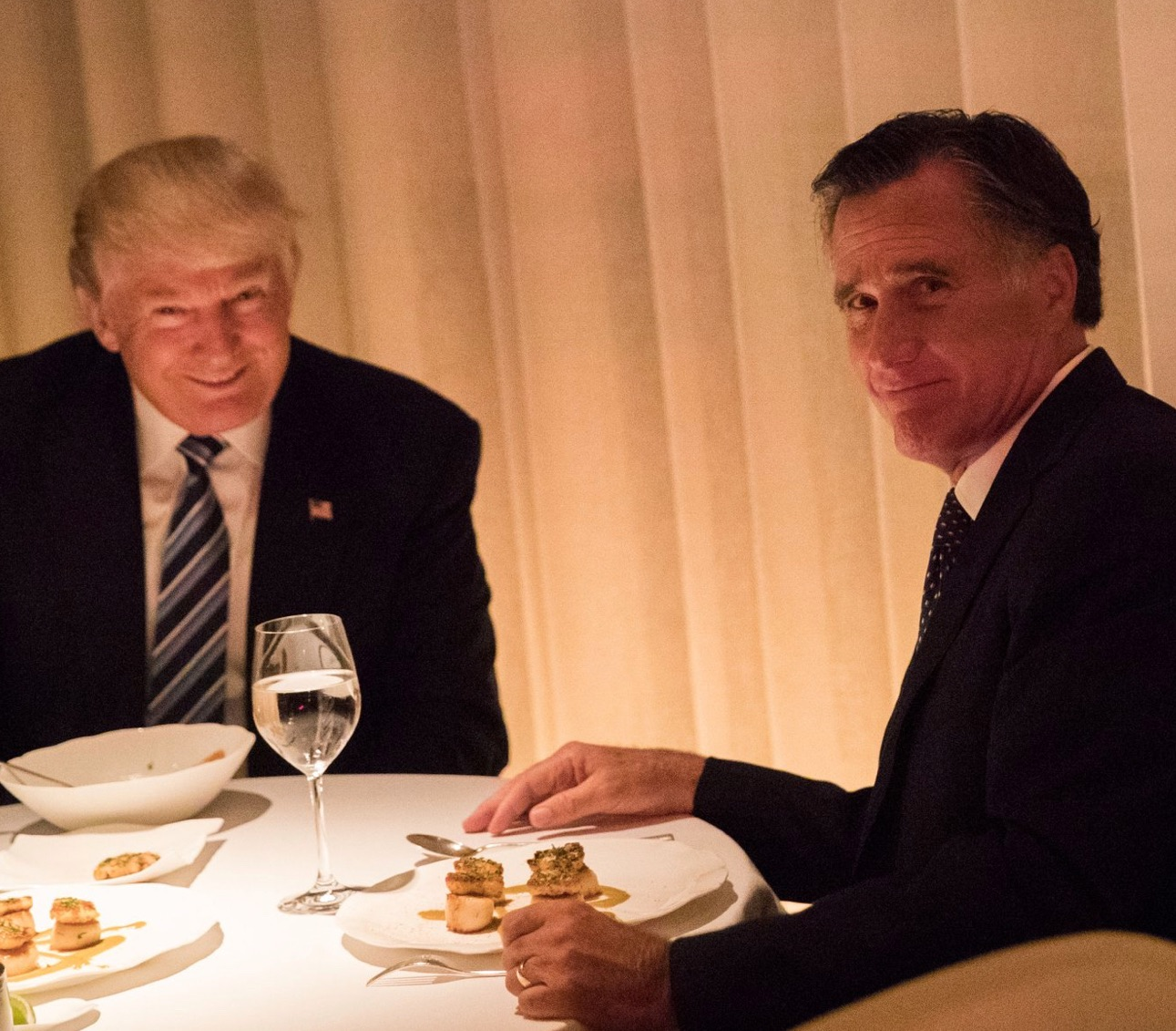 trump surrogate roger stone trump interviewed romney to torture from the disturbing photo above it was already pretty damned obvious what was going on when donald trump met mitt romney for dinner dangling the prospect