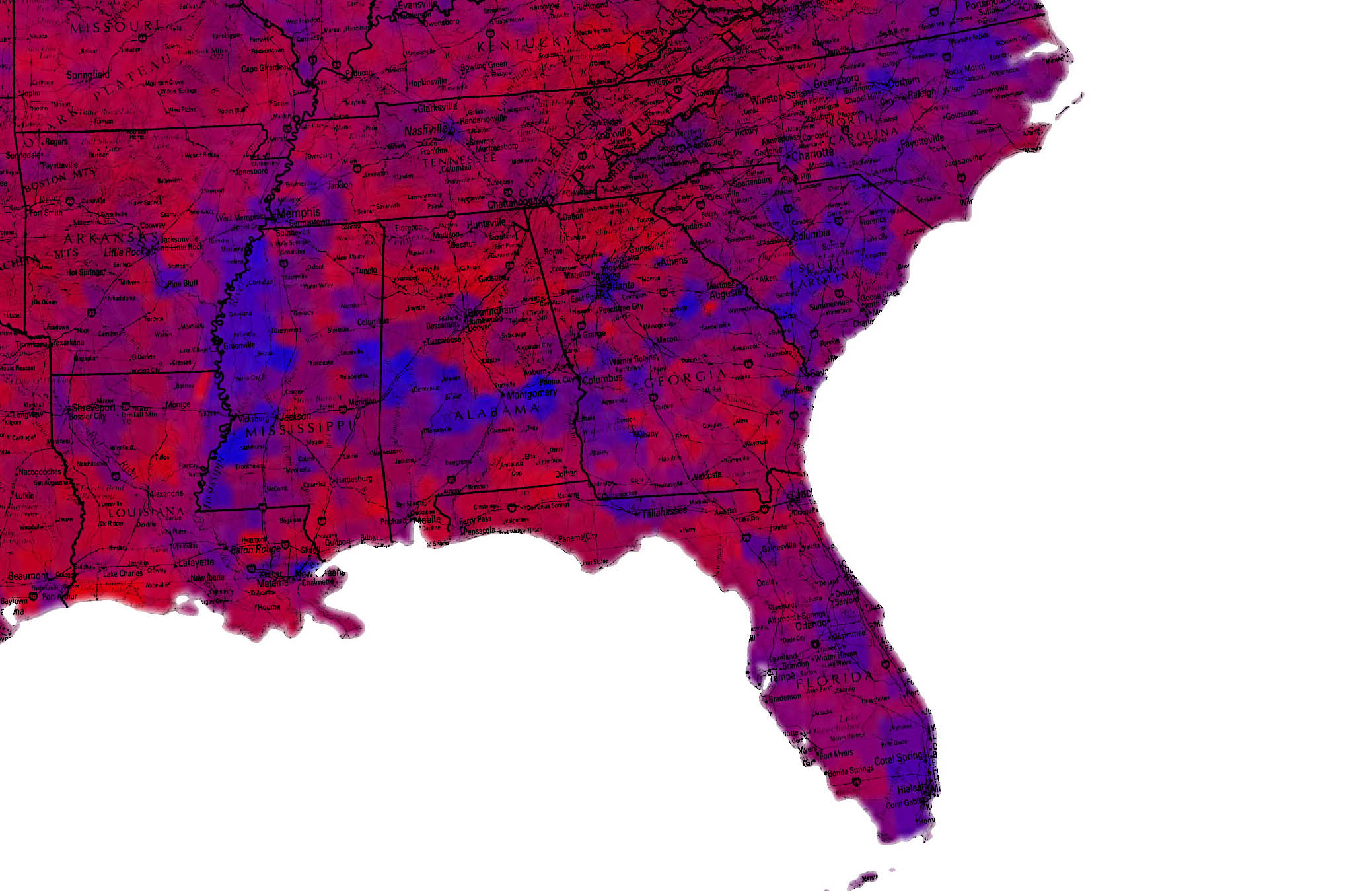 2016 US Presidential Election Map By County Vote Share Maps Of
