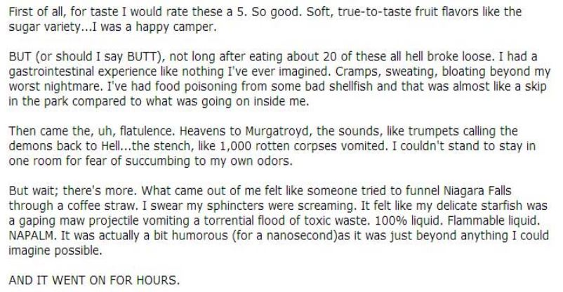 Beware Of The 5 Lb Bag Of Sugarless Gummy Bears On The Reviews Are Priceless Lgf Pages