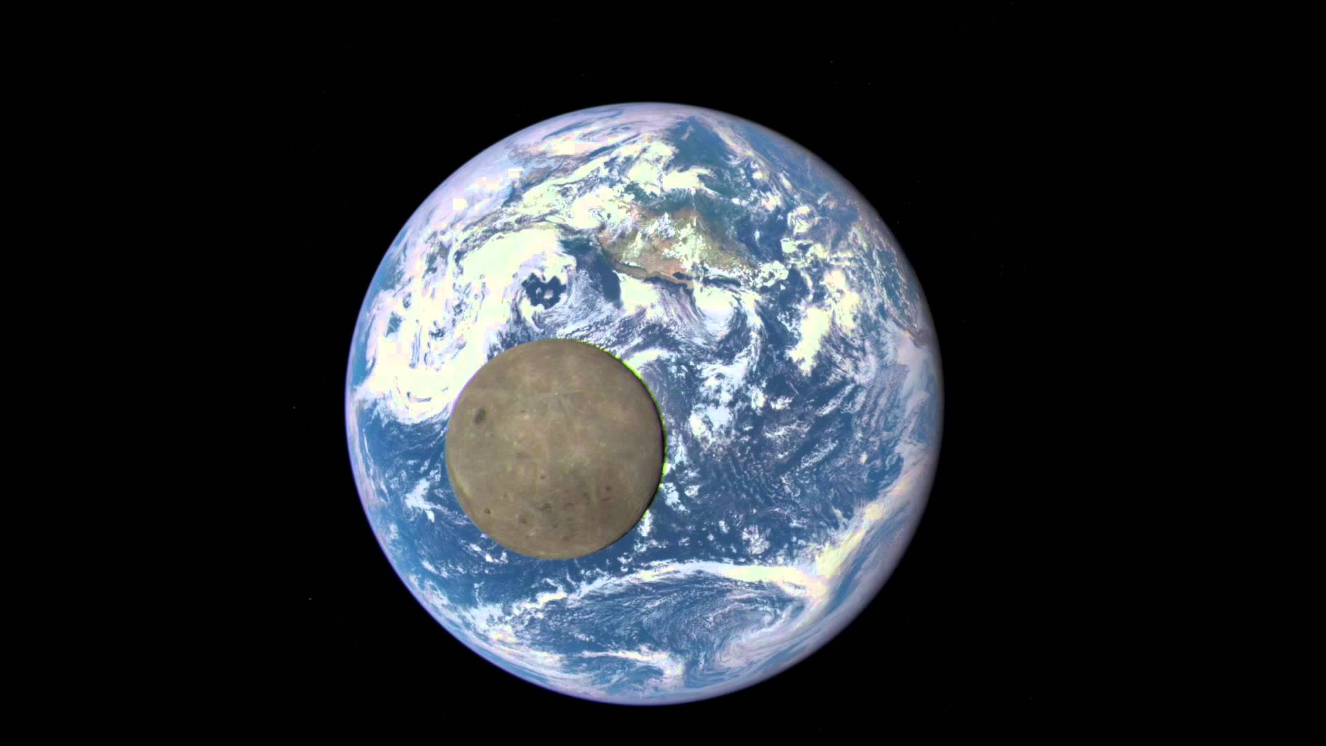 NASA Animation: Dark Side of the Moon Crosses the Earth ...