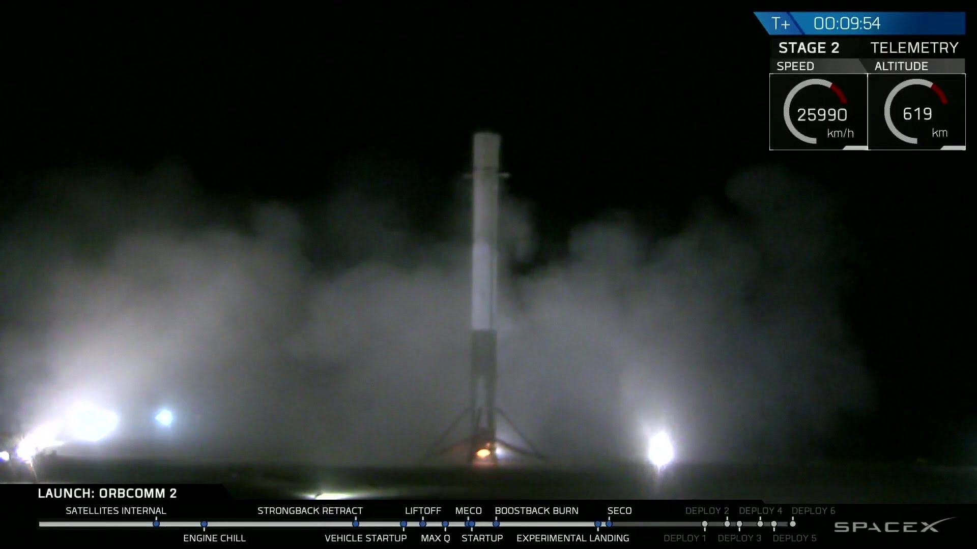 Video: SpaceX First Stage Booster Sticks Its Landing at ...
